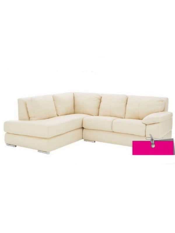 Primo Lh Italian Leather Corner Chaise